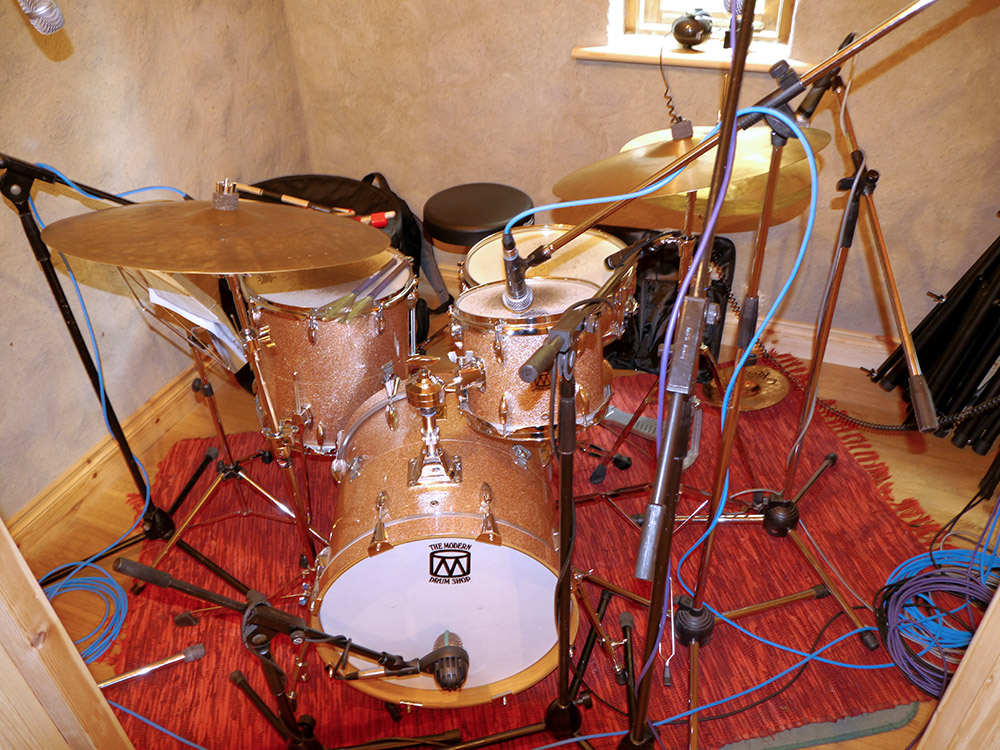 Drum Set in booth